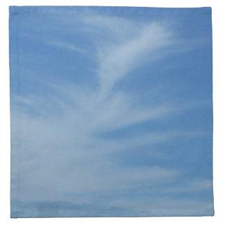 Blauer Himmel mit Weiß bewölkt abstraktes Stoffserviette