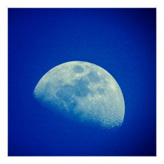 Blauer Himmel-Mond Poster