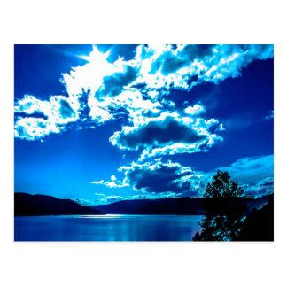 Blauer Himmel-Postkarte Postkarte
