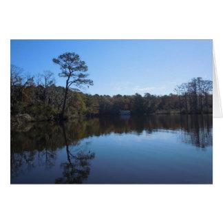 Blauer Himmel-Reflexionen - Beaufort County, NC Karte