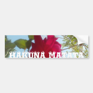 Blauer Himmel schöner Hakuna Matata Roter Rose Autoaufkleber