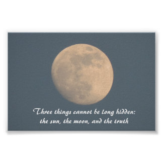 Blauer Himmel und Mond, Zitatsonnemond und Poster