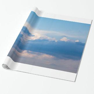 Blauer Himmel-und Weiß-Wolken-himmlische Einpackpapier