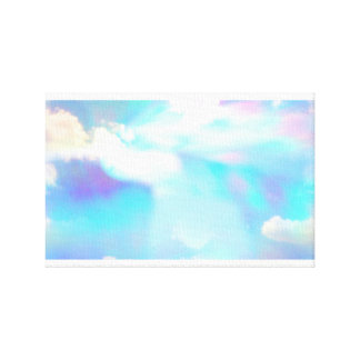 Blauer Himmel und Wolken durch Prisma Leinwanddruck
