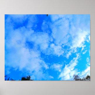 Blauer Himmel-Wert-Plakat-Papier (Matt) Poster