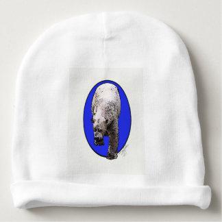 Blauer Hintergrund polares Bear_2017-04-23 Babymütze