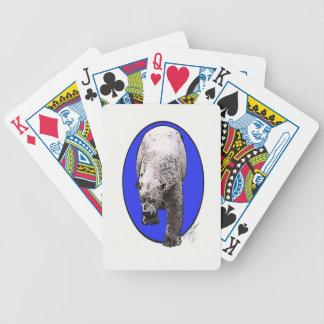 Blauer Hintergrund polares Bear_2017-04-23 Bicycle Spielkarten