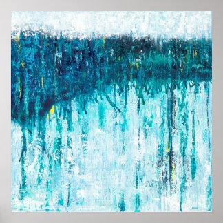 Blauer Horizont - blaue abstrakte Kunst Poster