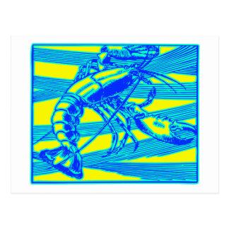 Blauer Hummer-Maine-Ozean Krebs Postkarte