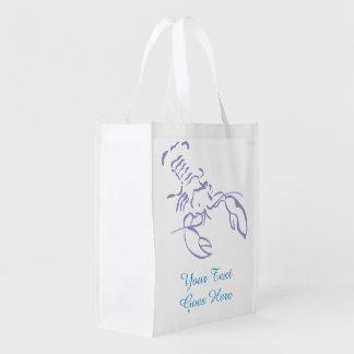 Blauer Hummer Einkaufstaschen
