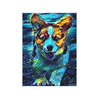 Blauer Hund Leinwanddruck