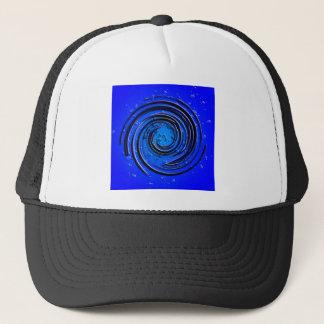 Blauer Hurrikan-Strudel Truckerkappe
