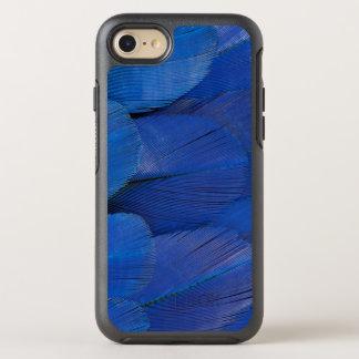 Blauer Hyazinthemacaw-Feder-Entwurf OtterBox Symmetry iPhone 8/7 Hülle