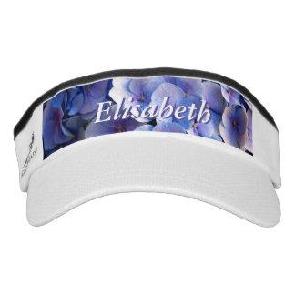 Blauer Hydrangea blüht kundengerechte Maske Visor
