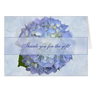 Blauer Hydrangea-Blumen-freier Raum danken Ihnen Mitteilungskarte