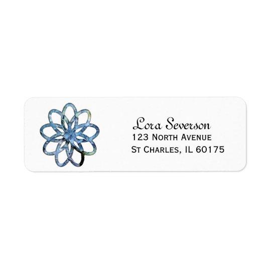 Blauer Hydrangea-Blumen-Rücksendeadresse-Aufkleber