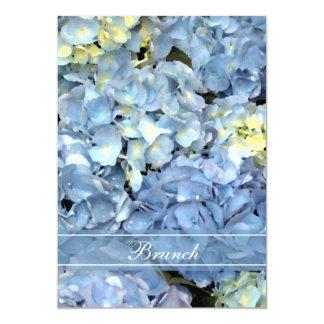 Blauer Hydrangea-Blüten-Posten-Hochzeits-Brunch 12,7 X 17,8 Cm Einladungskarte