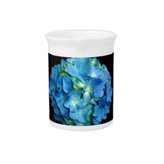 Blauer Hydrangea Getränke Pitcher