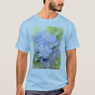 Blauer Hydrangea, Hydrangea, Blumen, Watercolor T-Shirt