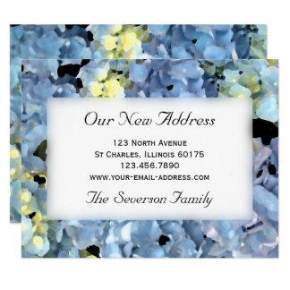 Blauer Hydrangea-neue Adressen-Mitteilung Karte