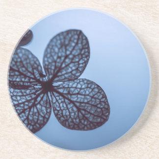 Blauer Hydrangea Sandstein Untersetzer