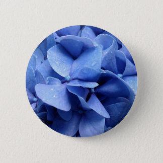 Blauer Hydrangeaknopf/-Abzeichen Runder Button 5,7 Cm