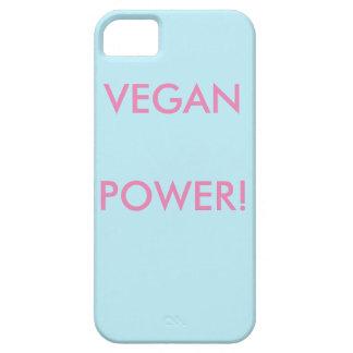 Blauer iPhone Kasten für Vegans mit rosa Schreiben Barely There iPhone 5 Hülle