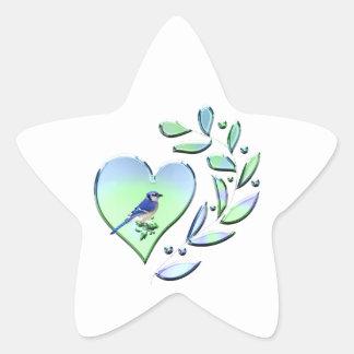 Blauer Jay-Liebhaber Stern-Aufkleber