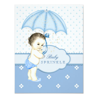 Blauer Junge besprühen Babyparty 10,8 X 14 Cm Einladungskarte