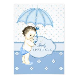 Blauer Junge besprühen Babyparty 12,7 X 17,8 Cm Einladungskarte