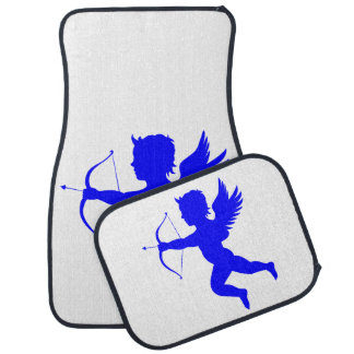 Blauer Jungen-Engels-Auto-Boden-Matten (volles Autofußmatte