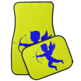 Blauer Jungen-Engels-Auto-Boden-Matten (volles Automatte