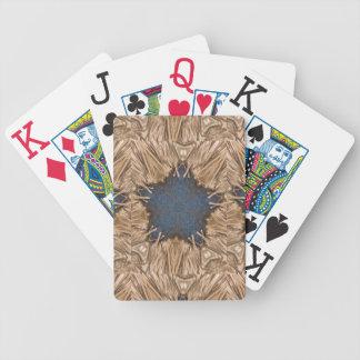 Blauer Kaleidoskop-Stern-Flechtweiden-Hintergrund Bicycle Spielkarten