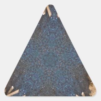 Blauer Kaleidoskop-Stern-Hintergrund Dreieckiger Aufkleber