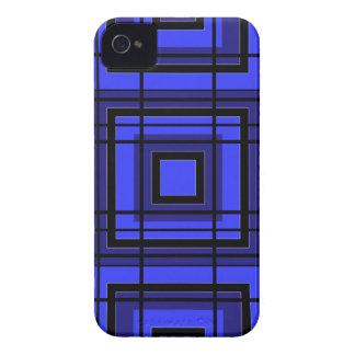 Blauer karierter Entwurf Case-Mate iPhone 4 Hülle