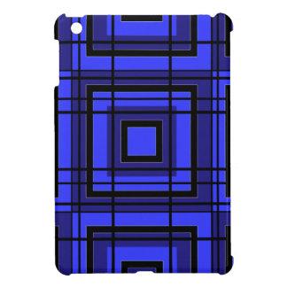 Blauer karierter Entwurf iPad Mini Hülle