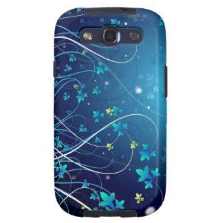 Blauer Kasten Blumen Samsungs-Galaxie-S3 Schutzhülle Fürs Galaxy SIII