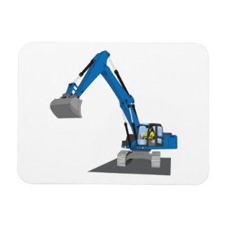 blauer Kettenbagger Magnet