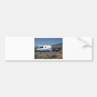 Blauer Klassiker RV Motorhome der Autoaufkleber