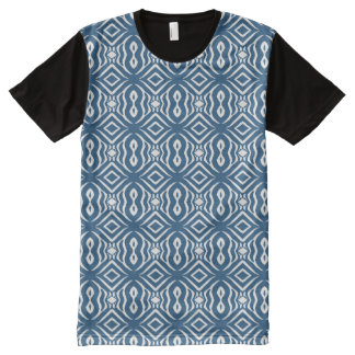 Blauer Kleiderkauf-Verkauf des Tier-Pattern#14a T-Shirt Mit Bedruckbarer Vorderseite