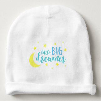 Blauer kleiner großer Träumer-Mond und Sterne Babymütze