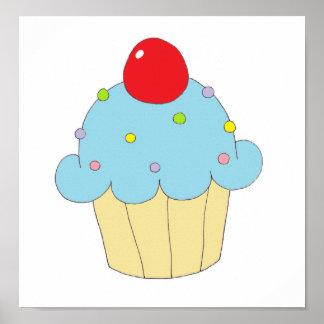 Blauer kleiner Kuchen Plakat