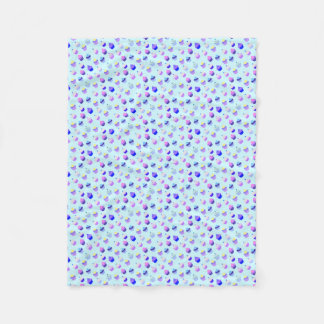 Blauer kleiner KuchenConfetti Fleecedecke