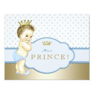 Blauer kleiner Prinz Babyparty 10,8 X 14 Cm Einladungskarte