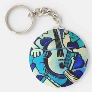 Blauer Knall Schlüsselanhänger