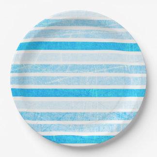 Blauer Knistern-Papier- mit Leseliniengroßes Pappteller