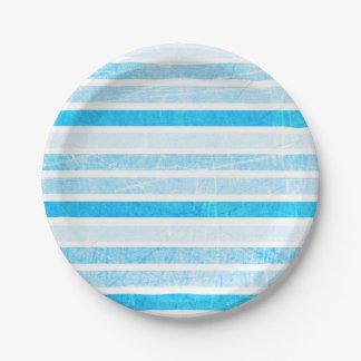 Blauer Knistern-Papier- mit Leselinienkleiner Pappteller