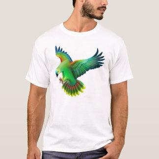 Blauer konfrontierter Amazonas-Papageien-T - Shirt