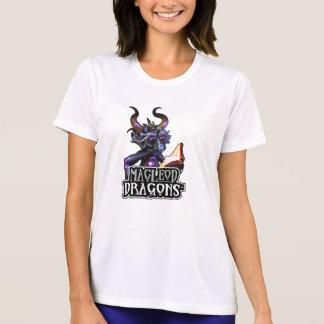 Blauer Konkurrent T Sport-Tek Drache MD, weiß T-Shirt