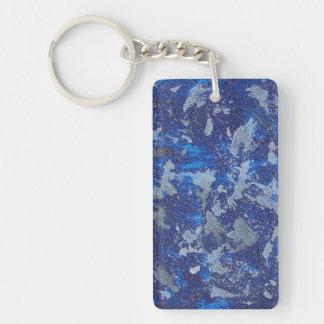 Blauer Kosmos #3 Schlüsselanhänger